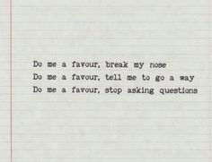 do me a favour / arctic monkeys MY FAV SONG BY THEM!!!