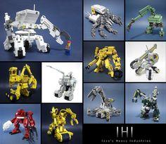IHI Heavy Equipments by Izzo's LegoStyle, via Flickr