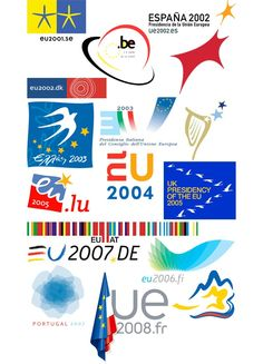 EU presidency logos (by John Worth) : EU presidency logos (by John Worth) French Logo, Union Logo, Woodland Party, Holiday Cocktails, Art School, Eat Cake, Presidents, Feelings, Logos