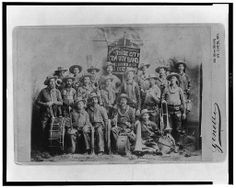 [Dodge City Cow-Boy Band with their instruments] Ghost Towns Of America, Dodge City, American Frontier, Old West, Cowboys, Boy Bands, Old Things, Nerd, Geek Stuff