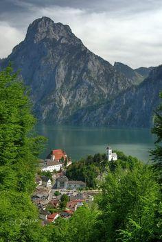 Traunkirchen and the Traunstein, Austria