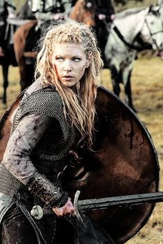 "Lagertha | Vikings 2.09 ""The Choice"" Viking Shield Maiden, Viking Warrior Woman, Lagertha, Ragnar, Raiders, Axe, Vikings, Enemies, Sword"