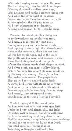 """Autumn"" by W.H.Longfellow. http://www.annabelchaffer.com/"