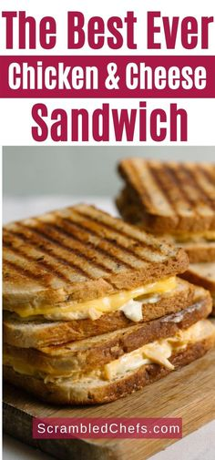 Serve this creamy grilled chicken and cheese sandwich as an easy update on a classic grilled cheese. Loaded with creamy sauce and tons of cheese! #GrilledChickenSandwich #GrilledCheeseSandwich #GrilledCheese #Sandwich Kid Favorite Recipe, Favorite Recipes, Sprouted Grain Bread, Garlic Cheese Bread, Potato Bread, Grilled Sandwich, Chips And Salsa, Slice Of Bread, Creamy Sauce