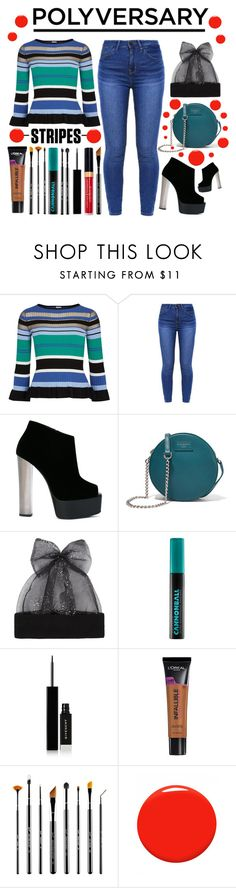 """A Decade Of Stripes"" by latoyacl on Polyvore featuring Pinko, Giuseppe Zanotti, Dolce&Gabbana, Federica Moretti, Urban Decay, Givenchy, L'Oréal Paris, Sigma and Christian Louboutin"