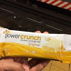 Power Crunch protein energy bar (peanut butter creme flavor) - Real food is always better for you on detox. That said, if you find yourself in a crunch, there's this. Contains a little over 1 tsp of sugar and I have to say is DELICIOUS. Weeks 2 & 3. In case of emergency.
