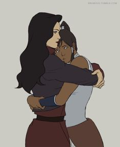 gif Korra legend of korra asami fanart: mine Korrasami (i just realized her hair thingies are the wrong color) (oh well)