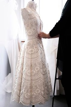 ONLY at the Ralph & Russo atelier, where you'd expect chaos and confusion as millions of stitches are placed just so ahead of the the brand's couture show, would you find perfect quiet and polite tranquility.