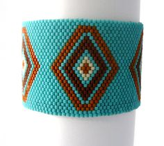 Turquoise Cuff Bracelet Native American by BrownIrisCreations