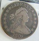 Draped Bust Silver - 1805 EARLY HALF DOLLAR DRAPED BUSTRARE ESTATE COIN  http://www.goldcoinsandbarsonline.com/draped-bust-silver/#