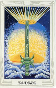 Lá Ace of Swords – Aleister Crowley Thoth Tarot Aleister Crowley Tarot, Ace Of Swords, Steampunk, Oracle Tarot, Tarot Card Meanings, Sacred Symbols, Angel Cards, Tarot Readers, Major Arcana