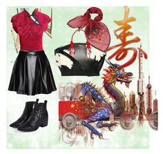 """Modern Oriental"" by koolkolourz on Polyvore featuring Boohoo, Alexander McQueen and modern"