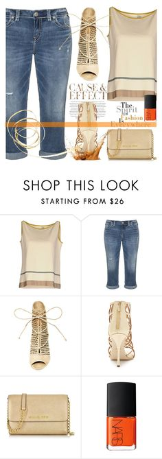 """..."" by jecakns ❤ liked on Polyvore featuring SIYU, Silver Jeans Co., Envi, Steve Madden, Sergio Rossi, Michael Kors and NARS Cosmetics"