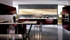 Yes it's the modern Italian kitchen style where elegance and beauty are stunning the cabinets, .
