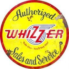 Whizzer sign.  www.garageart.com