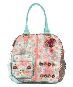 This Falcony Handbags Coral Minka Satchel by Falcony Handbags is perfect! #zulilyfinds