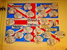 british values - a bright and colourful display board British Values Display Eyfs, British Values Eyfs, Class Displays, School Displays, Classroom Displays, Learning Log, Abc Nursery, Reception Class, Class Dojo