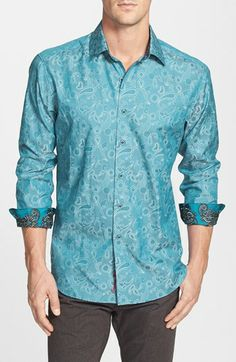 Robert Graham 'Lost & Found' Regular Fit Sport Shirt.  Love these shirts for men.  Definitely pricey so we try to watch and catch them on sale but they are gorgeous when on.