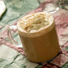 "Tiramisu Mocha Latte - (S or Fuel Pull) ""My Christmas Spiced Hot Chocolate Coffee Drink."" - Teresia www.TrimHealthyMama.com"