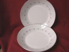 Mikasa, China Dinnerware Blue Elegance Pattern #6223 set 2 Soup bowl #Mikasa Fine China Dinnerware, Blue Dinnerware, Mikasa Fine China, Decorative Plates, Soup, Elegant, Antiques, Tableware, Mall