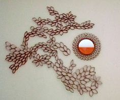 Tutorial:  Recycled Wall Art Made From Cardboard Tubes - This actually looks nice!