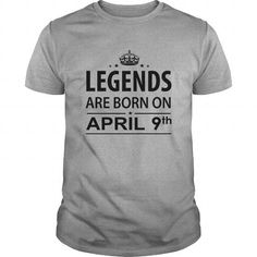 Cool 0409 April 9 Born Birthday Shirts Legends Born month T Shirt Hoodie Shirt VNeck Shirt Sweat Shirt Youth Tee for Girl and Men and Family T-Shirts