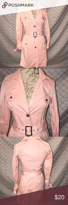 Pale Pink Jacket New with tags. Waist measures 31 inches Jackets & Coats Utility Jackets