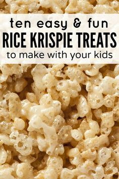 If you're looking for kid friendly recipes and desserts in an effort get your children more involved in the kitchen, this collection of rice krispie treats (complete with Mickey Mouse, dinosaurs, and Elmo) will blow you away!