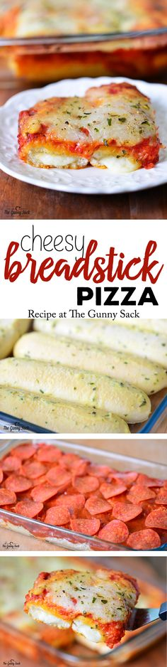 Cheesey Breadstick Pizza Recipe | thegunnysack.com