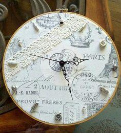 Neeley's Knits: Embroidery Hoop Clock DIY