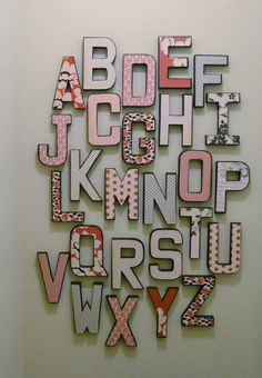 Alphabet Wall Letters ABC Home Decor Typography by BeeCreative2, $125.00
