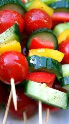 fresh vegetable skewers....