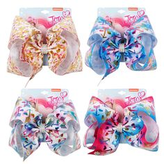 AHB New Large Hair Bows for Girls Print Ribbons Hair Clips Rhinestone Bow Knot Hairgrips Party Fashion Kids Hair Accessories. Girl Hair Bows, Girls Bows, Candy Theme Birthday Party, Art Kits For Kids, Ribbon Hair Clips, Large Hair Bows, Jojo Bows, Hair Grips, Rhinestone Bow