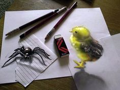 3D Pencil Drawings By Artist Ramon Bruin Look Like They're Floating (PICTURES)
