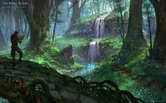 View an image titled 'Bosmer Jungle Art' in our The Elder Scrolls Online art gallery featuring official character designs, concept art, and promo pictures. The Elder Scrolls, Elder Scrolls Online Guide, Elder Scrolls Games, Concept Art World, Environment Concept Art, Environment Design, Fantasy Forest, Fantasy Art, High Fantasy
