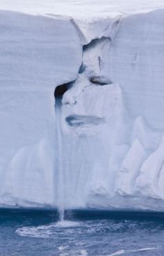 Austfonna....mother nature crying ???  Photographed in the Arctic Circle.