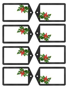 Free printable holiday gift tags and digital paper. These are created by Tracey @ www.tracygurleydesigns.etsy.com