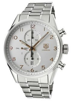 Tag Heuer Men's Carrera Chronograph Champagne Dial Stainless Steel #Watches