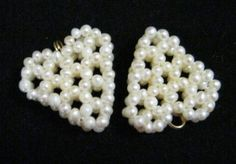 White Pearl Hearts by janissupplies on Etsy, $6.50