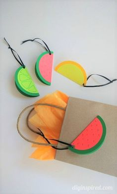Easy DIY Fruit Slice Gift Tags - Cute for a Summer Birthday Gift