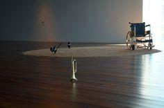 """""""El carro de Apolo"""" David Escalona. Exposición """"Para qué quiero pies"""" en el Palmeral de las Sorpresas/Espacio Iniciarte  #Málaga #ArteContemporáneo #ContemporaryArt #Art #ArteEspañol #Arte #Arterecord 2015 https://twitter.com/arterecord"""