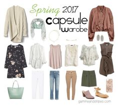 Spring 2017 Capsule Wardrobe by mschaps on Polyvore featuring MANGO, J.Crew, Madewell, Ralph Lauren, Gap, SUGAR LIPS, H&M, AG Adriano Goldschmied, Barbour and Banana Republic