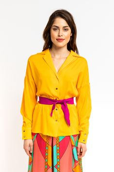 Yellow Shirts, Timeless Elegance, Blouse Designs, Spring Fashion, Special Occasion, Spring Summer, Silhouette, Buttons, Pairs