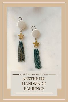 These handmade earrings provide shimmer and shine for your winter outfits. Get yours on the website!
