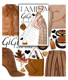 """""""Fall Style with Gigi New York !"""" by anin-kutak ❤ liked on Polyvore featuring Gianvito Rossi, The Bee's Sneeze, Chanel, MAC Cosmetics, STELLA McCARTNEY, GiGi New York, MSGM, Estée Lauder, Lizzie Fortunato and Anne Klein"""