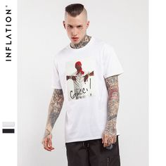 Mens Hip Hop Men Streetwear Top Tees Casual Cotton T Shirt Hip Hop Graphic Tees For Men