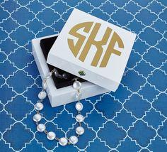 Monogrammed Bauble Box-White – Monogram Eye Candy