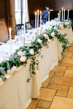 Every wedding should have a unique style. Every wedding should have a unique style. Head Table Wedding Decorations, Bridal Party Tables, Head Table Decor, Wedding Centerpieces, Head Tables, Tall Centerpiece, Wedding Top Tables, Floral Wedding, Wedding Flowers