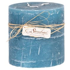 Textured wax pillar candle in ocean.   Product: CandleConstruction Material: WaxColor: Ocean...