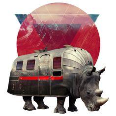 Ali Gulec Wall Decal | Airstream Rhino | WallsNeedLove